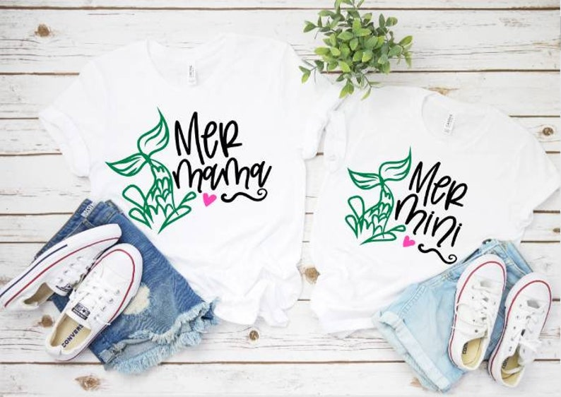 Mermaid Shirt Matching Shirts Mom and Daughter Mommy and me tees Mommy and me Shirts Mom and daughter Shirts Mommy and me Tshirts