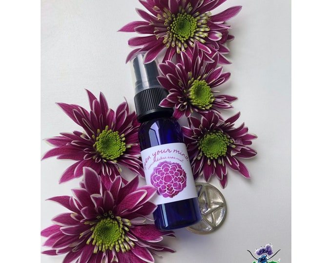 Open Your Mind Mist / Mind Body and Spirit / Chakra Balance Spray / Crown / Sahasrara / 7th Chakra / Brow / The Divine / Energy Healing