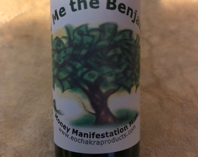 Show Me the Benjamins Spray / Abundance / Money Manifestation / Green Aventurine / 24 Karat Gold / Essential Oil Blend