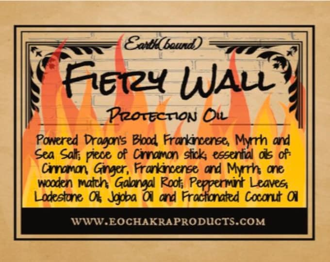 Fiery Wall of Protection Oil - Anointing Oil (30 ml)