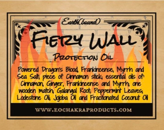 Fiery Wall - Protection Oil Anointing Oil (30 ml)