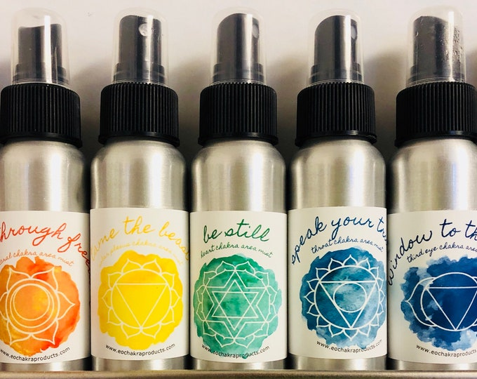 Chakra & Smudge Off Mister Set / Mind Body and Spirit / Chakra Balance Oils / Energy Healing Spray