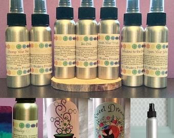 Complete Mister Line/ Mind Body and Spirit / Chakra Balance Oils / Energy Healing Spray/ Essential Oil Mister