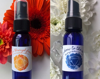 Moon Ritual Duo Mists / Mind Body and Spirit / Chakra Balance Spray / Moon Magic / Full Moon / New Moon / Energy Healing Spray
