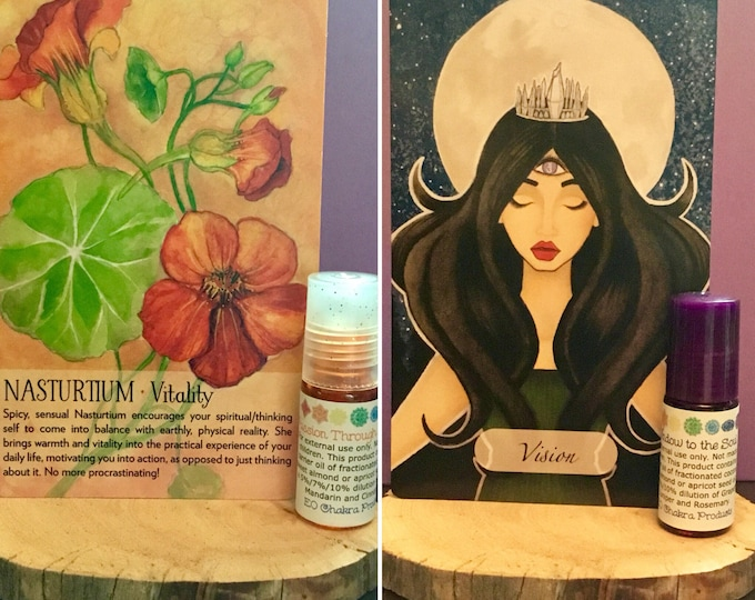 Moon Ritual Duo Roll-on / Mind Body and Spirit / Chakra Balance Oil/ Moon Magic / Full Moon / New Moon / Energy Healing