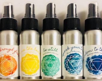 Chakra Mister Set / Mind Body and Spirit / Chakra Balance Oils / Energy Healing Spray