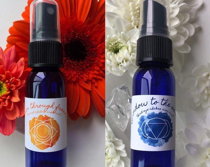 Moon Ritual Duo Mists / Mind Body and Spirit / Chakra Balance Spray / Moon Magic / Full Moon / New Moon / Energy Healing Spray