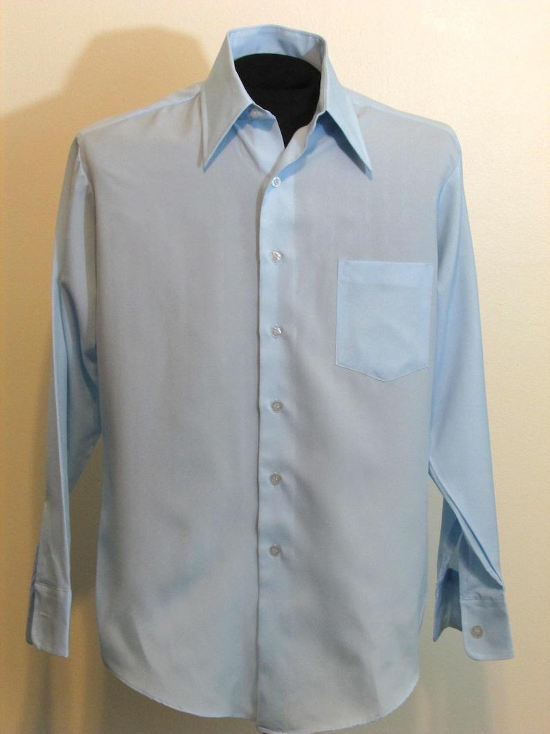 ebb86ee07b7c94 Vintage Kmart Permanent Press Blue Dress Shirt 15 1 2 33