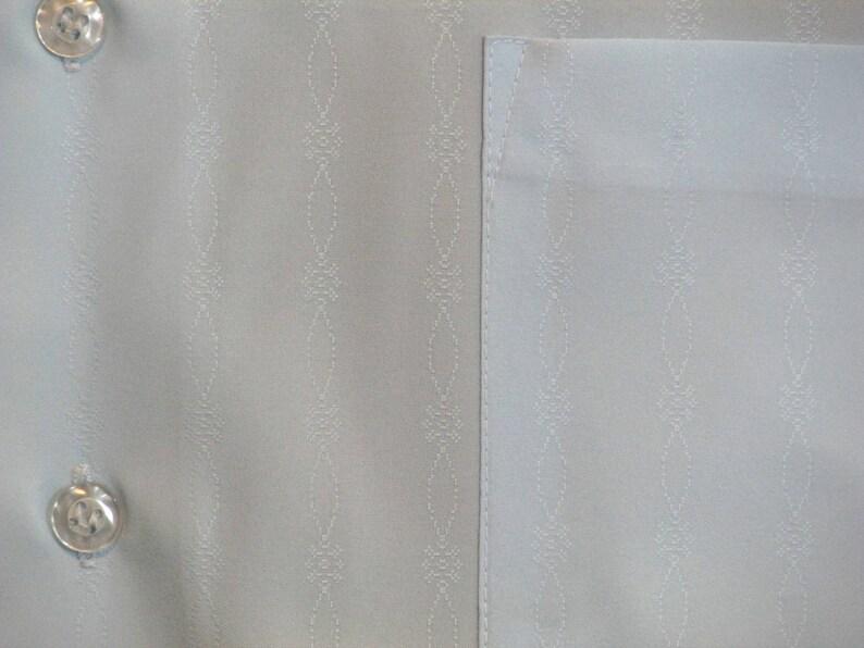Vintage Kmart Permanent Press Blue Dress Shirt 15 12 33 Polyester Subtle Pattern Medium