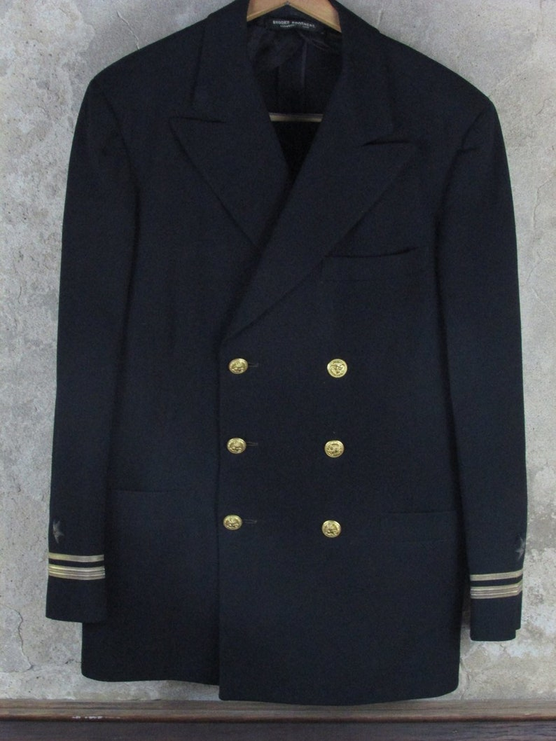 3095f4057db US Navy Dress Blues Lieutenant Rank Brooks Brothers Wool
