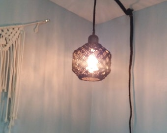 Macramed Hanging Light