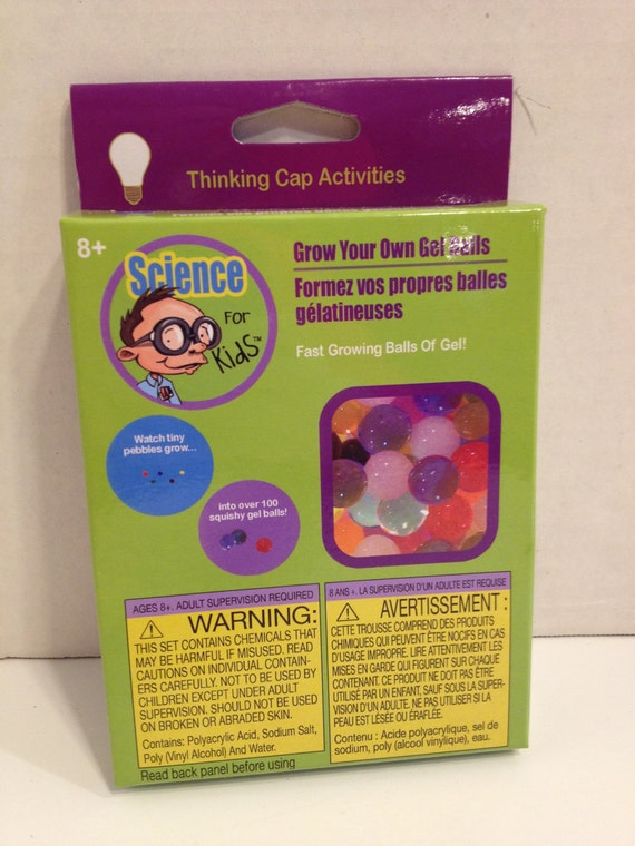Science For Kids FAST GROWING BALLS OF GEL Ages 8+