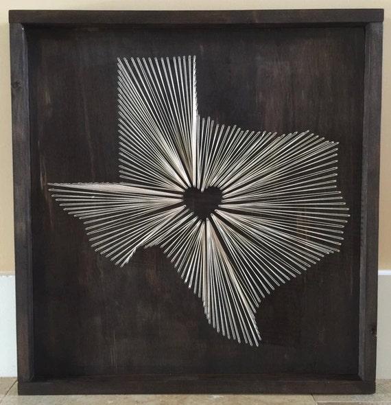 State String Art Texas Nail And String Art Tx String Wall Etsy