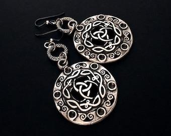 Boho Earrings, Tribal Earrings, Chunky Earrings, Dangle Earrings, Silver Earrings, Festival, Gifts Under 50, Gifts For Her, Silver Jewelry