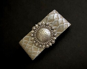 Wide Band Bracelet, Chunky Bracelets, Western Jewelry, Concho Bracelets, Wide Cuff, Reptile Bracelet, Statement Jewelry, Leather Bracelets