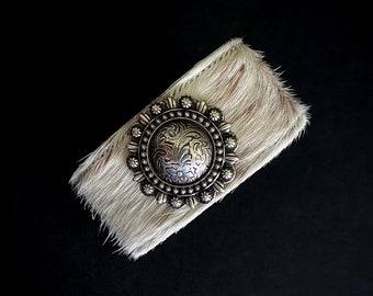 Wide Band Bracelet, Concho Bracelet, Wide Cuff, Chunky Bracelets, Western Jewelry, Statement Jewelry, Swarovski Crystal, Leather Bracelets