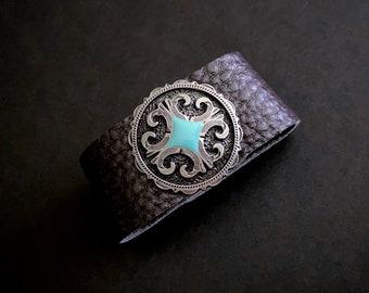 Concho Bracelets, Wide Cuff, Leather Bracelets, Statement Jewelry, Wide Band Bracelet, Chunky Jewelry, Cuff Bracelets, Western Jewelry