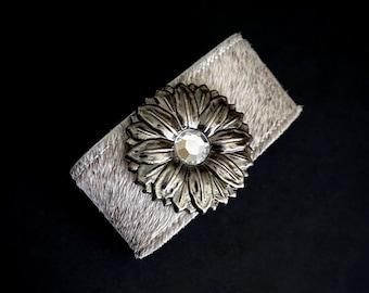 Concho Bracelet, Chunky Jewelry, Wide Cuff, Western Jewelry, Wide Band Bracelet, Flower Jewelry, Leather Bracelets, Statement Jewelry