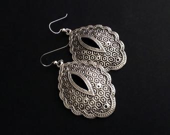 Silver Jewelry, Boho Jewelry, Chunky Earrings, Festival Jewelry, Silver Earrings, Tribal Dangles, Ethnic Dangles, Under 50, Gifts For Her