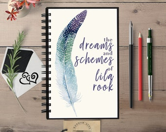 Custom Notebook, Personalized Journal, Dream Journal, Writing Journal, Custom Journal, Lined Blank, Personalized Notebook, Spiral Notebook