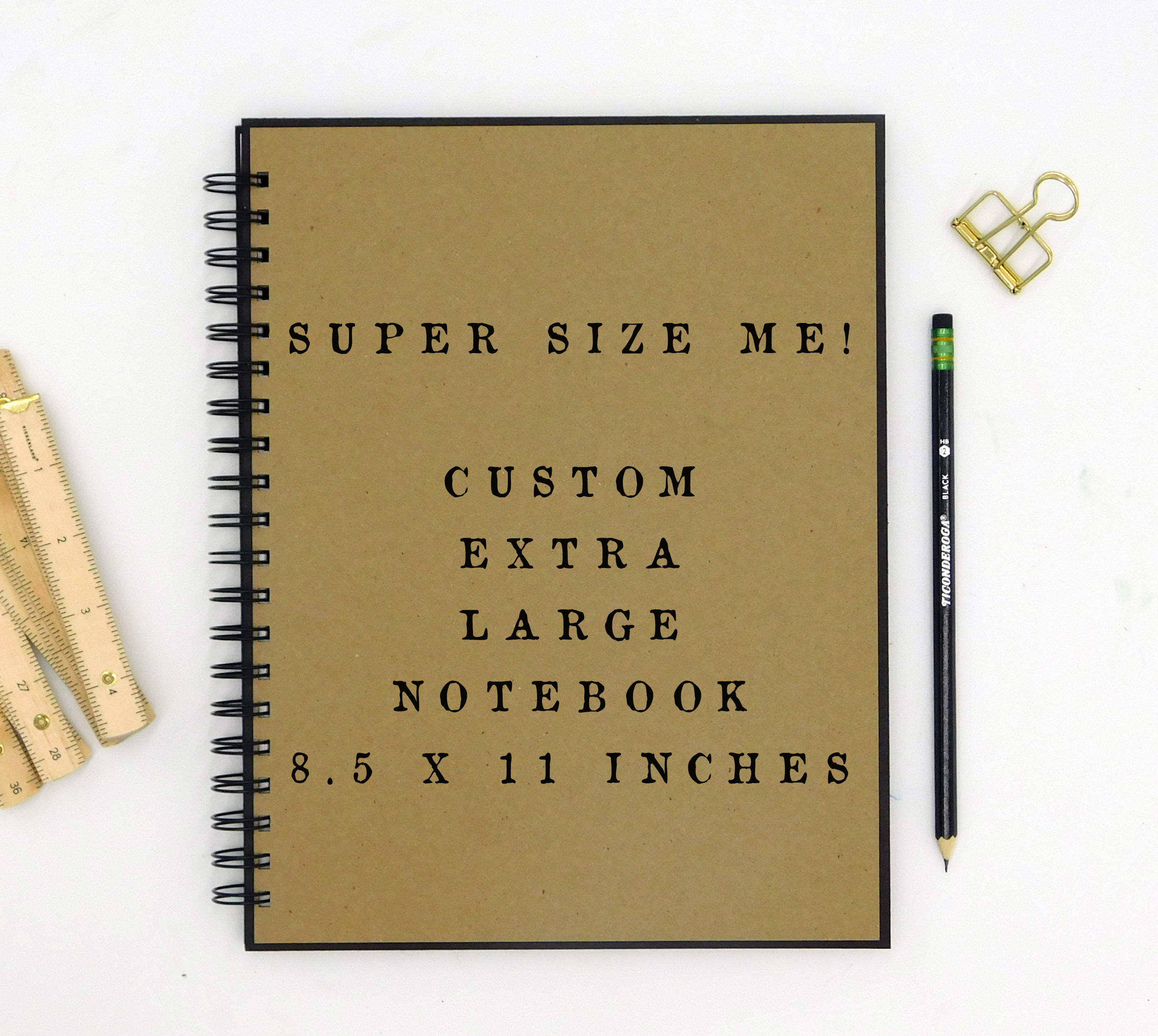 Custom Extra Large Notebook 8 5 X 11 Inches Large Journal Custom Journal Personalized Notebook Spiral Notebook Large Notebook