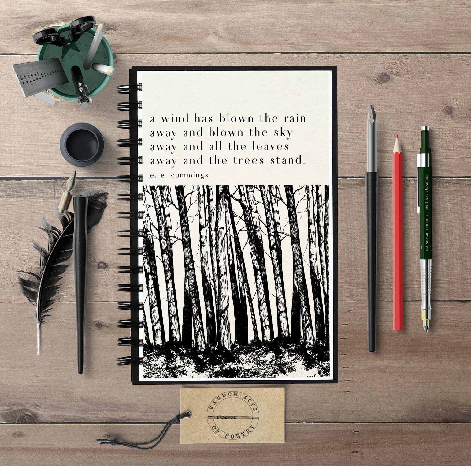 Literary Quote Journal Literary Notebook Ee Cummings Nature Etsy