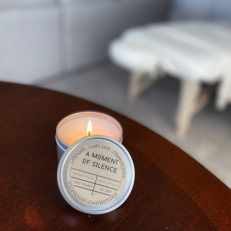 Massage Oil Candle Coconut Apricot Wax  Lavender  Clary image 0