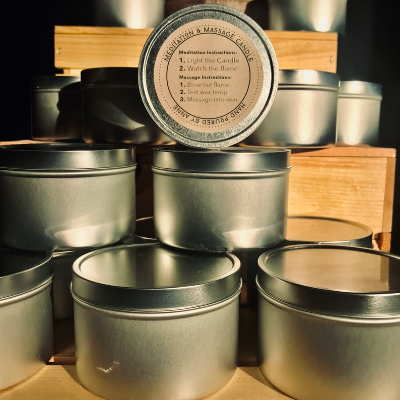 50 full-size Custom Labeled Candles  Guest Favors  image 0