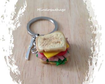 Keychain vegetable sandwich