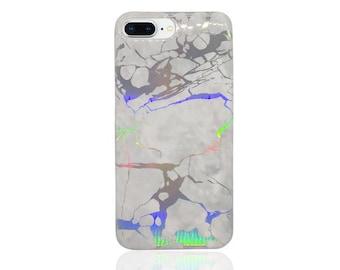 Reflective phone case, white reflective, holo, iphone 6 7 8 x, holo phone case, holo iphone case