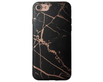 Rose Gold Black Marble phone case, Black Marble ase, iphone 6,tech gifts, iphone 7, iPhone Xs Max,iphone 8, iphone 8 plus case iphone x case