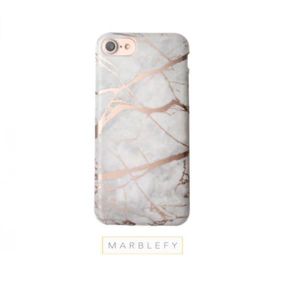 Rose Marble Phone Case Rose Gold Reflectiveiphone 6 Case Etsy