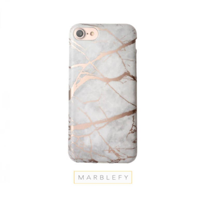 Rose Marble Phone Case Rose Gold Reflectiveiphone 6 case image 0