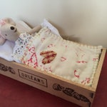 Doll or Mouse bed - perfect for Maileg Mice and Rabbits