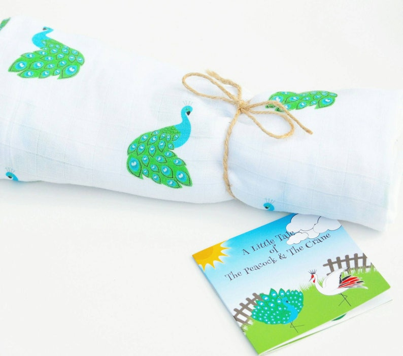Brand new in gift box large muslin fox design from Madpac and aesop/'s fable book