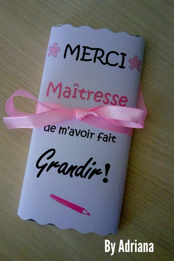 teacher gift chocolate message thank you teacher teacher etsy