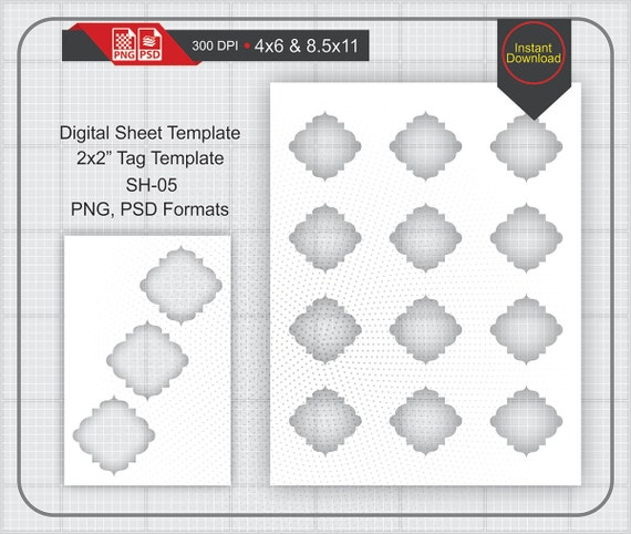 2x2 soho tag label template instand download make your etsy