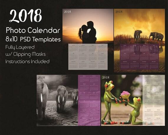 8x10 Photo Calendar Template 2018 2 Psd Templates Photoshop