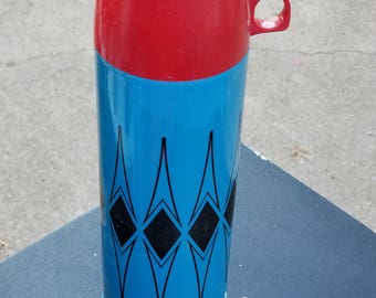 Vintage tall thermos
