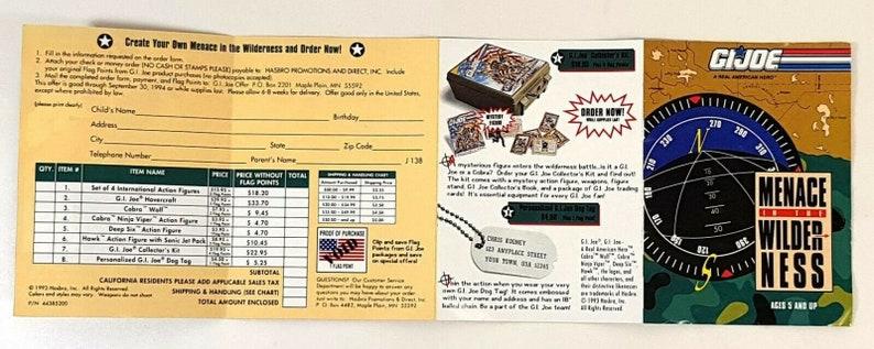 1993 Vintage Hasbro GI Joe Brochure Promotional Flyer 134CA