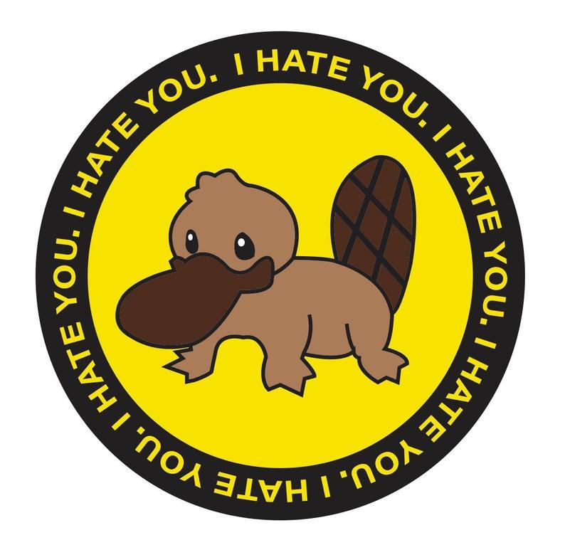 Green Day Platypus I Hate You Hard Enamel Pin Nimrod | Etsy