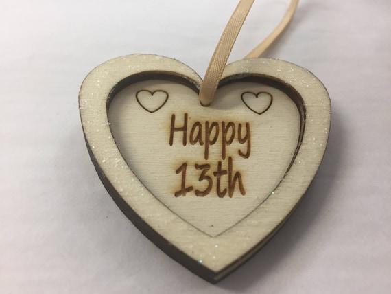 30th 40th 50th 60th 70th 80th 90th birthday gift wooden heart keepsake plaque