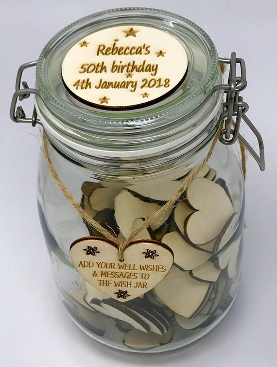 Una Casa Personalised Birthday Wish Jar Birthday Guest Book Etsy