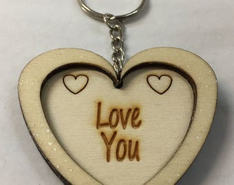 Love You Keyring / Love You Hanging Heart