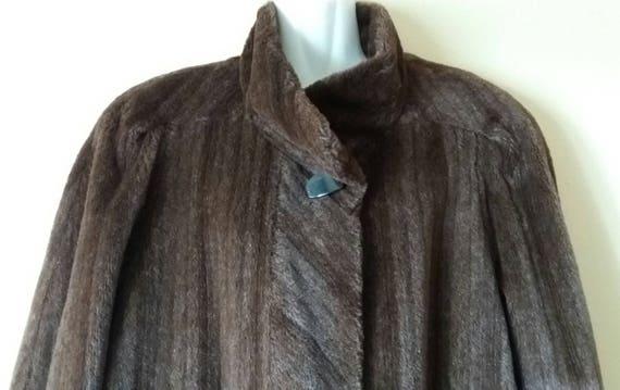 Mohair Coat amp; Closure Coat front Fur Fur Long hooks Luxury Mortensen Vintage with Coat Hensel Alpaca sleeve Fur Brown gwfSqqY
