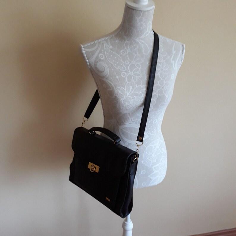 Vintage Black Leather Shoulder Bag,Messenger Bag,Satchel Bag,Crossbody Bag