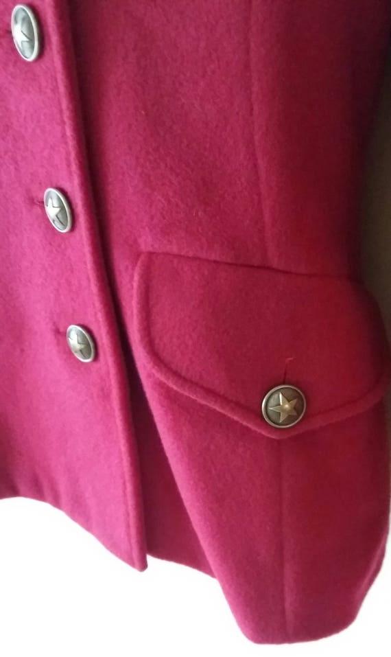 Breasted Star Sleeve New Blazer Lolita Wool Blazer Blazer Lempicka Blazer Vintage Double Embroidered Front Red Long Collar w7vA6RwqX