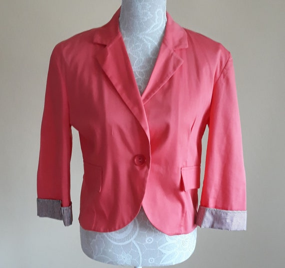 Vintage Short Blazer,Between Pink and Peach Color