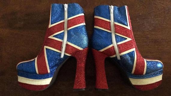 90 S Geri Halliwell Union Jack Boots 6 5m By Jeffrey Etsy