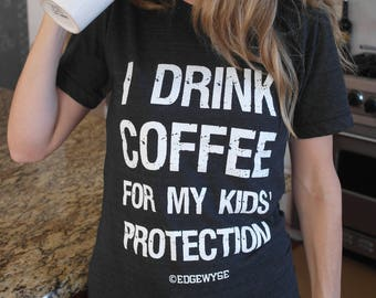 Coffee for Kids' Protection tee (only L, XL, 2XL)